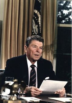 Reagan on the Challenger