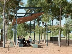Landscape Architecture: HASSELL Project name: Victoria Park Public Domain Location: Sydney, New South Wales, Australia Completion date: 2002