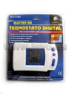 Termostato digital programable Electro DH 11.805 apto para calefacción y aire acondicionado. www.jsvo.es