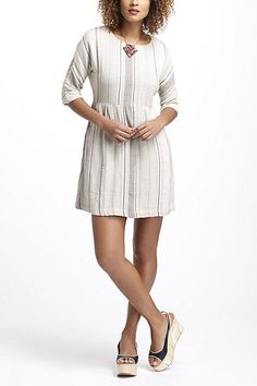 Striped & Pleated Mini Dress - Anthropologie.com 188