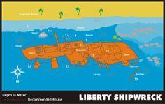 Liberty Shipwreck, Bali - Dive Site Information - Indonesia Dive Directory Scuba Diving Bali, Site Information, Shipwreck, Marine Life, Liberty, Passion, Adventure, Beach, Places