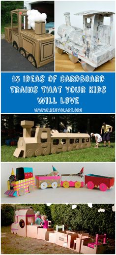 #Cardboard, #Kids, #KidsRecycleProjects, #Recycled, #Train, #Upcycled The advantage of cardboard over other materials is that it's easy to recycle. Cutting and folding the cardboard material is not hard, you can cut it to pretty any imaginable shape with regular scissors and, it can also be arranged easily. Summer is