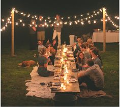 Love this idea for a summer dinner party