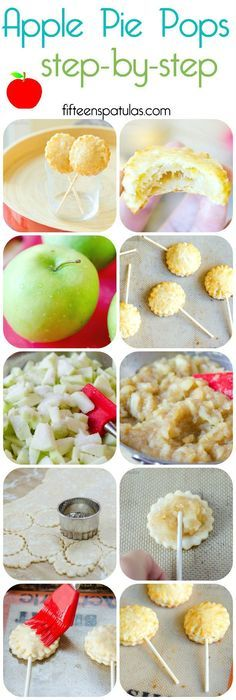 Food Photography: Apple Pie Pops with Cheddar Crust Mini Desserts, Just Desserts, Delicious Desserts, Dessert Recipes, Yummy Food, Apple Recipes, Holiday Recipes, Croquembouche, Pie Pops