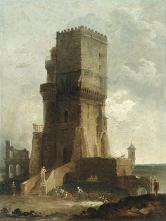 A Capriccio of the Tower of Benevento, by Hubert Robert