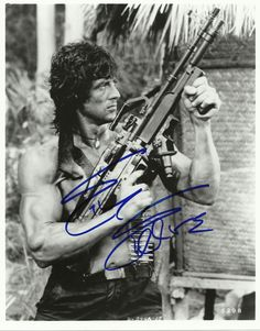 Sylvester Stallone Signed 8x10 Photo Proof in Person COA Sly Stallone Rambo | eBay