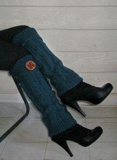 How about DENIM - -  Hand Knit Leg Warmer  Womens Wool Leg Warmer Legwarmer  by zyzon, $39.00