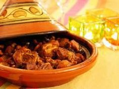 """The """"tajine"""" (or """"tagine"""" is both the word for the dish (as a main course) and for the clay pot that is used in North Africa for cooking the dish. here a recipe for Lamb Tajine! Lamb Tagine Recipe, Tagine Cooking, Ras El Hanout, Couscous, Food Videos, Love Food, Easy Meals, Yummy Food, Favorite Recipes"""