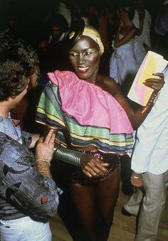 Grace Jones at Studio 54.(1979)