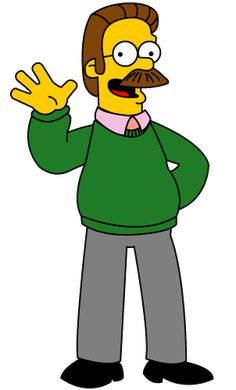Look at this perfect Ned Flanders costume. The Internet seems unsure if he's wearing a costume, or just happens to look like Ned Flanders in real Simpsons Drawings, Simpsons Cartoon, Simpsons Characters, Cartoon Pics, Ned Flanders, Famous Mustaches, Los Simsons, Geeks, Clipart Gallery