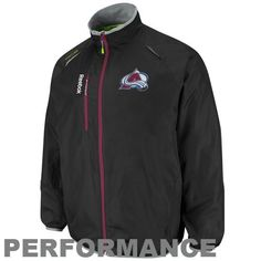 NHL Reebok Colorado Avalanche Center Ice Kinetic Rink Full Zip Performance Jacket - Black (X-Large) by Reebok. $79.99. Reebok Colorado Avalanche Center Ice Kinetic Rink Full Zip Performance Jacket - BlackOfficially licensed NHL productTwo front pocketsFront vertical zip pocketLocker loop100% PolyesterFull zip jacketImportedEquipped with Kinetic Fit technolgy for ultimate comfortElastic cuffsTeam color accentsQuality embroideryMesh lining100% PolyesterFull zip jacketTeam col...