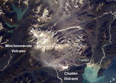 Photo of Chaitén and Minchinmavida volcanoes