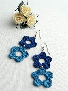 São um luxo esses brincos de crochet, achei na Net...