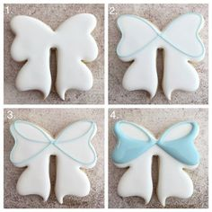 how to make the most PERFECT bow sugar cookies ever with Delorse from Sword's Sugars!Learn how to make the most PERFECT bow sugar cookies ever with Delorse from Sword's Sugars! Date Cookies, Iced Cookies, Cookies Et Biscuits, Cupcake Cookies, Cookie Favors, Heart Cookies, Cupcakes, Bolacha Cookies, Galletas Cookies