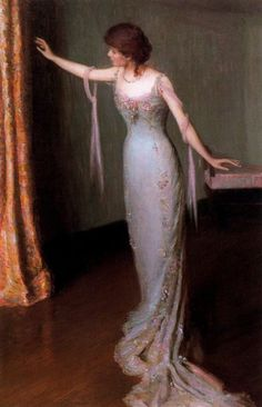 Lady in an Evening Dress (Renée) 1911. Oil on canvas, by Lilla Cabot Perry (American, 1848-1933)