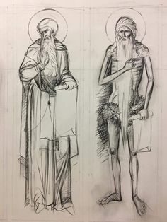 garb of a white priest. Drawing Lessons, Drawing Techniques, Drawing S, Pencil Drawings, Art Drawings, Byzantine Icons, Art Icon, Detailed Drawings, Orthodox Icons