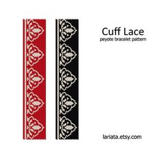 Cuff Lace Peyote Bracelet Pattern INSTANT DOWNLOAD