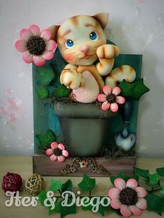 Clay Fairy House, Clay Fairies, Pasta Flexible, Cold Porcelain, Biscuits, Mason Jars, Diy And Crafts, Polymer Clay, Dog Cat