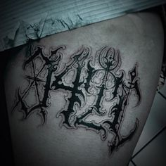 Pure Evil Black Ink! The Tattoos of OILBURNER