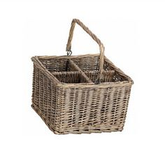 Wicker Basket, perfect for party/picnic utensils