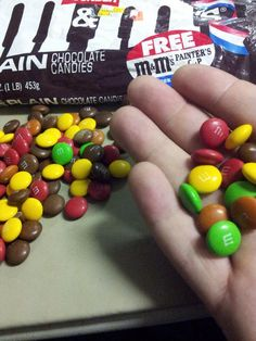 Tan M&M's! You were the dark brown M&M's' wan little brother, but I miss you :( BLUE M&M's are an abomination!