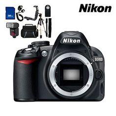 Nikon D3100 14.2MP Digital SLR Camera & Pro Accessory Bundle