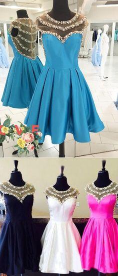 2017 short homecoming dress, blue short homecoming dress, black homecoming dress, white homecoming dress