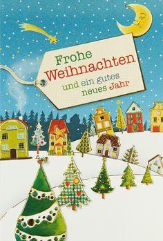 Oh Tannenbaum, oh Tannenbaum...  Das erste was einem beim Anblick dieser hübschen #Weihnachtskarte einfällt! White Christmas, Winter Scenery, Xmas Cards