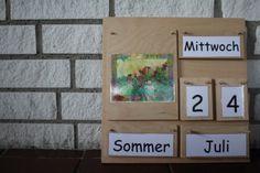 Montessori selbstgemacht der immerwährende Kalender