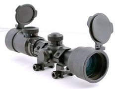 The Hammers Illuminated Riflescope Compact Short Rifle Scope AR15 BDC 3-9×42 Weaver Rings is perfect for use with military style rifles or small caliber hunting rifles. It has a 3inch eye relief that allows further forward mounting on the flat top receiver for easier acquisition of a moving target