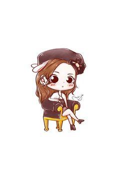 Cute Cartoon Wallpapers, Irene, Red Velvet, Chibi, Fan Art, Queens, Anime, Stickers, Drawings