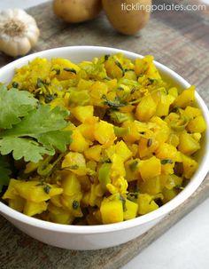 Tickling Palates: Aloo Methi Subzi | Potato & Fenugreek Leaves Dry Curry