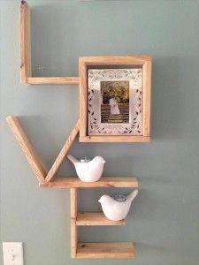 building with pallets diy wood shelf love creative craft ideas