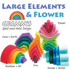 Grimm elements and flower stacker set