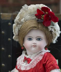 15 1/2' (40 cm) Rare Antique French Bisque Bebe Doll by Schmitt & from respectfulbear on Ruby Lane