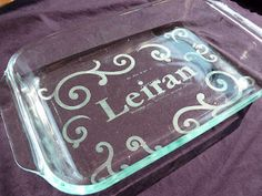 The Craft Lifters: Glass Etching Pyrex Pans