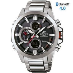 9a4f5f95389a Shop for Casio Men s  Edifice Bluetooth Smart  Analog-Digital Stainless  Steel Watch. Get free delivery at Overstock - Your Online Watches Store!