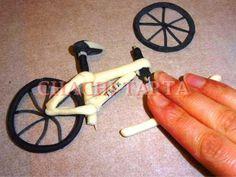 Tutorial para hacer una bici de fondant.