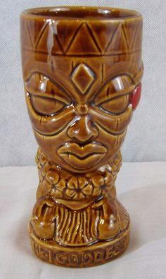 Tiki Farm Donella Goddess Orchid Vintage Hawaiian Cup Mug Barware