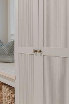 Ikea Sektion Cabinets, Diy Cabinets, Diy Cabinet Doors, Tall Cabinet Storage, Cabinet Door Styles, Cupboard Doors, Wardrobe Doors, Built In Wardrobe, Shaker Doors