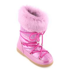 Candy pink upper made of polyamide cloth. Shoe laces on the front. Non-slip rubber outsoles. Snow Boots, Winter Boots, Apres Ski Boots, Winter Outfits For Girls, Pink Candy, Fur Trim, Little Girls, Girl Fashion, Slippers