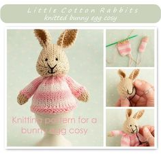 Knitted Egg Cosy from Little Cotton Rabbits *pattern to buy*