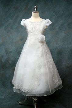 Double Layered First Communion Dress