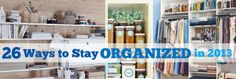26 Resolutions To Keep You Organized In 2013