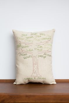 Custom Family Tree Pillow | Unique Customized Family Gift | Gift for Grandparent | Family Tree Design Gift for Parent | Perfect Gift