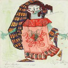 Bjorn Wiinblad - Three Costume Drawings