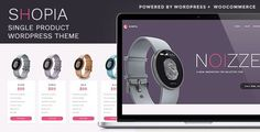 Shopia is a dedicated single product eCommerce theme, powered by WordPress and WooCommerce.    We help start-ups, indie shops, and entrepreneurs to promote, showcase, and sell their individual prod...