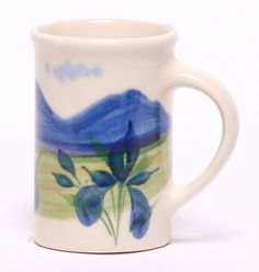 Tea Cup, Summer Peaks Pattern: Made in the USA and Lead-Free   Emerson Creek Pottery