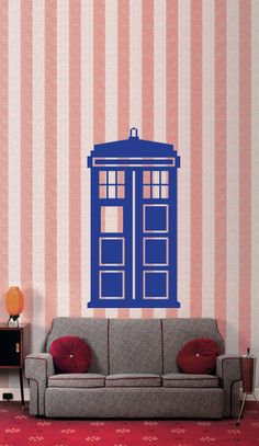 Tardis Police Box Doctor Who Vinyl Wall Art Decor Decal.     need this.