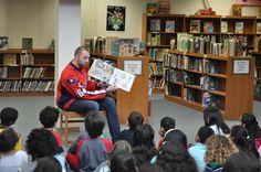 Capitals Eric Fehr Reads Children's Book at Key Elementar ...